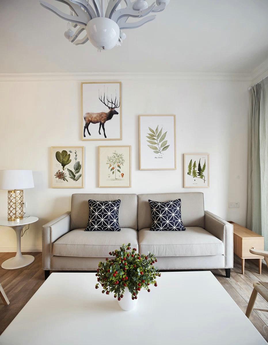收纳 旧房改造 小资 北欧 客厅图片来自北京今朝装饰在时尚北欧的分享