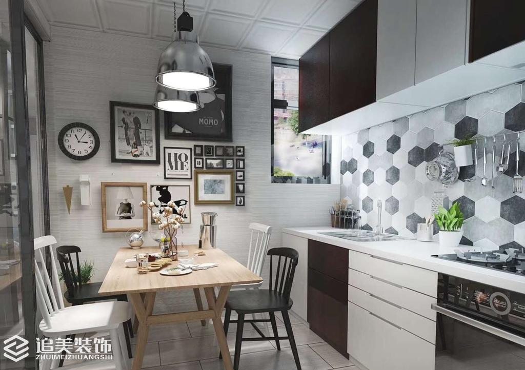 二居 小资 厨房图片来自河南追美装饰在名门万象89㎡纯净、温暖简约风的分享
