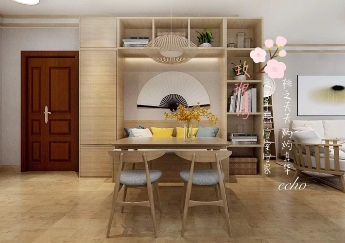 三居 格林玫瑰湾 日式风格 餐厅图片来自百家设计小刘在格林玫瑰湾117平日式风的分享