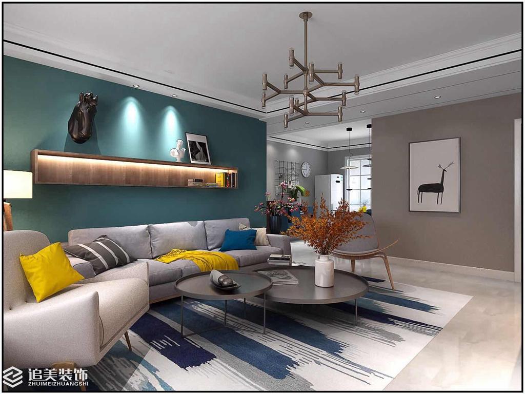 收纳 三居 客厅图片来自河南追美装饰在凌宇犀地127㎡时尚简约风的分享