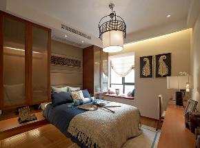 中式 三居 旧房改造 小资 卧室图片来自北京今朝装饰在传统是中国风格--中式的分享