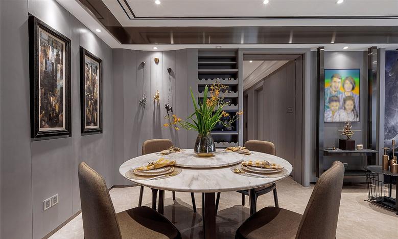餐厅图片来自家装大管家在轻奢淡雅 127平现代雅致时尚3居的分享