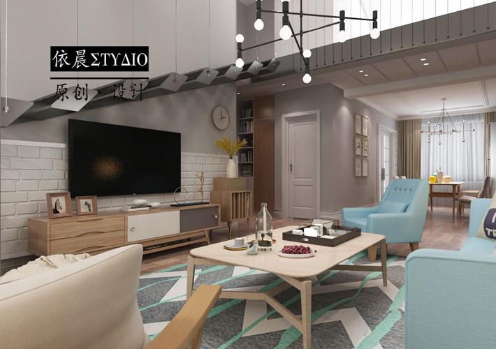 溪湖林语 阁楼设计 简约风 客厅图片来自百家设计小刘在保利溪湖林语220平阁楼简约设计的分享