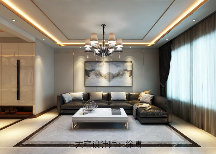 客厅图片来自沈阳百家装饰小姜在百家装饰美的城100平港式风格的分享