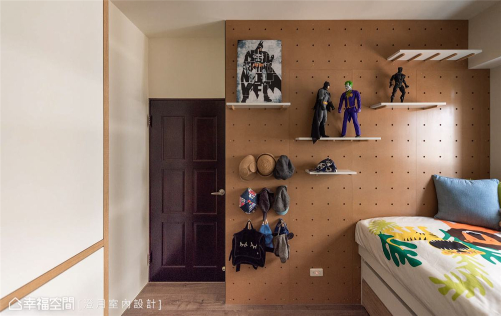装修设计 装修完成 工业风 卧室图片来自幸福空间在83平, 温馨的工业风个性宅的分享