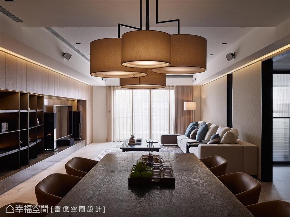 装修设计 装修完成 多元风格 餐厅图片来自幸福空间在188平, 开阔的双动线退休美宅的分享