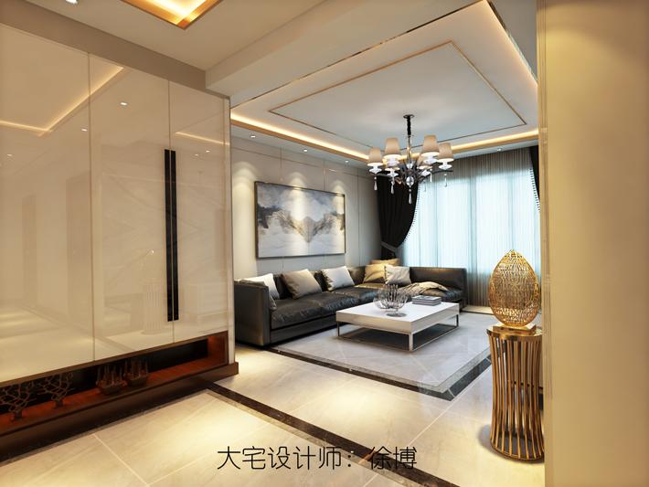 玄关图片来自沈阳百家装饰小姜在百家装饰美的城100平港式风格的分享