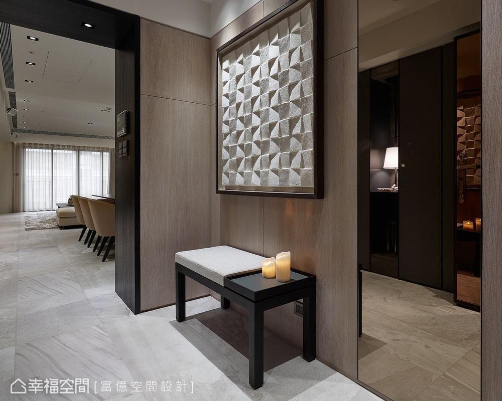 装修设计 装修完成 多元风格 玄关图片来自幸福空间在188平, 开阔的双动线退休美宅的分享