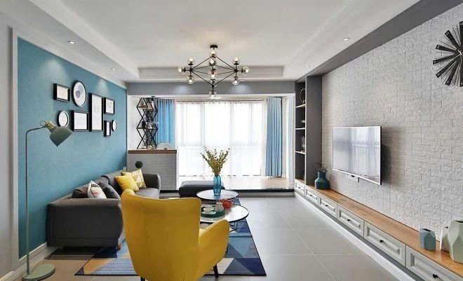 北欧 简约 全案设计 鹏友百年 保利 鸿恩寺 客厅图片来自鹏友百年装饰在通阳台,客厅至少大了20㎡的分享