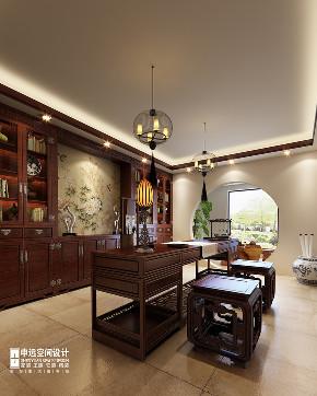 别墅 中式 古典别墅 申远 北京申远 书房图片来自申远空间设计北京分公司在北京申远-古典中式风格的分享