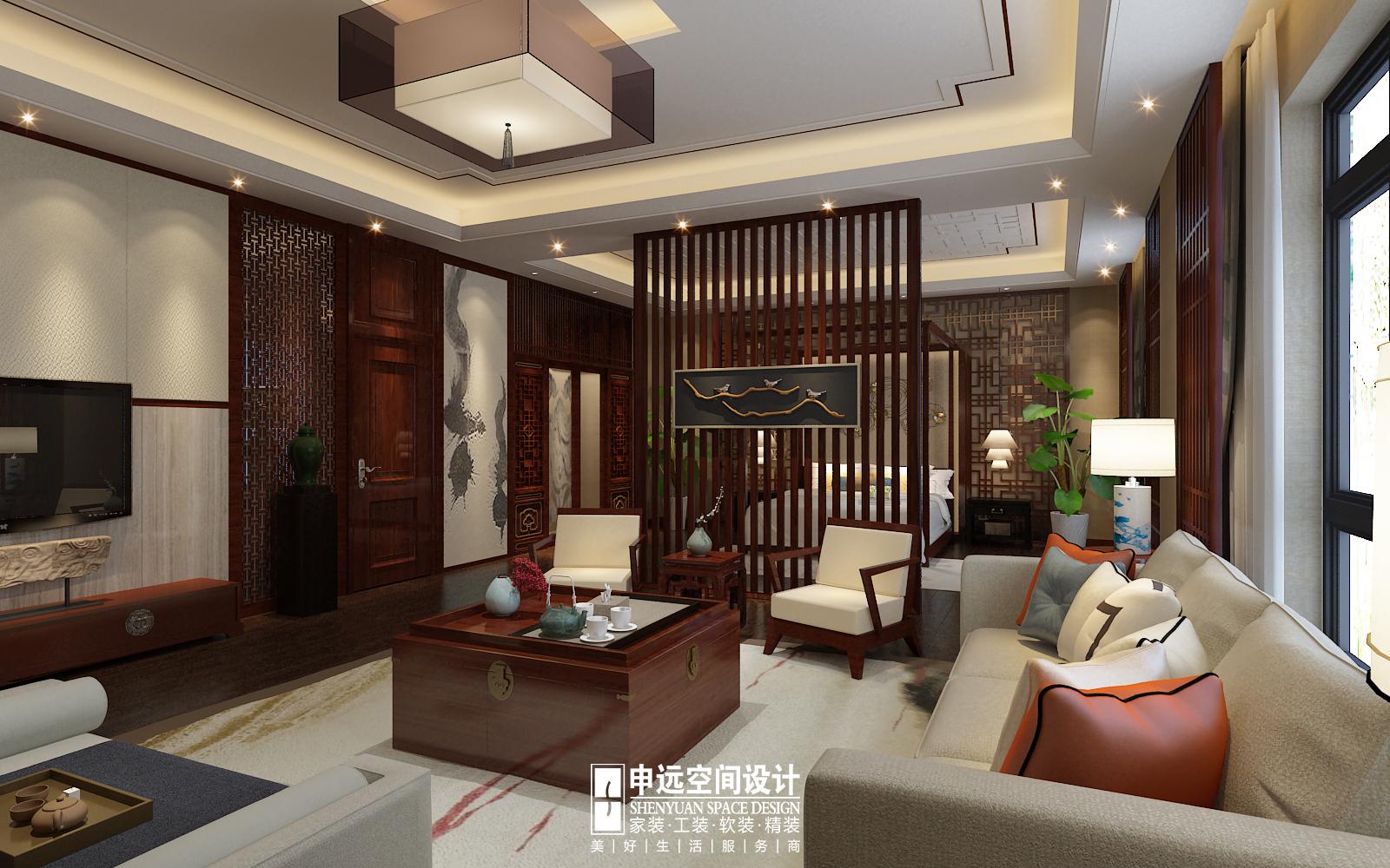 别墅 中式 古典别墅 申远 北京申远 客厅图片来自申远空间设计北京分公司在北京申远-古典中式风格的分享