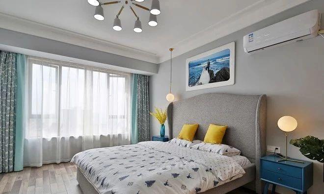 北欧 简约 全案设计 鹏友百年 保利 鸿恩寺 卧室图片来自鹏友百年装饰在通阳台,客厅至少大了20㎡的分享