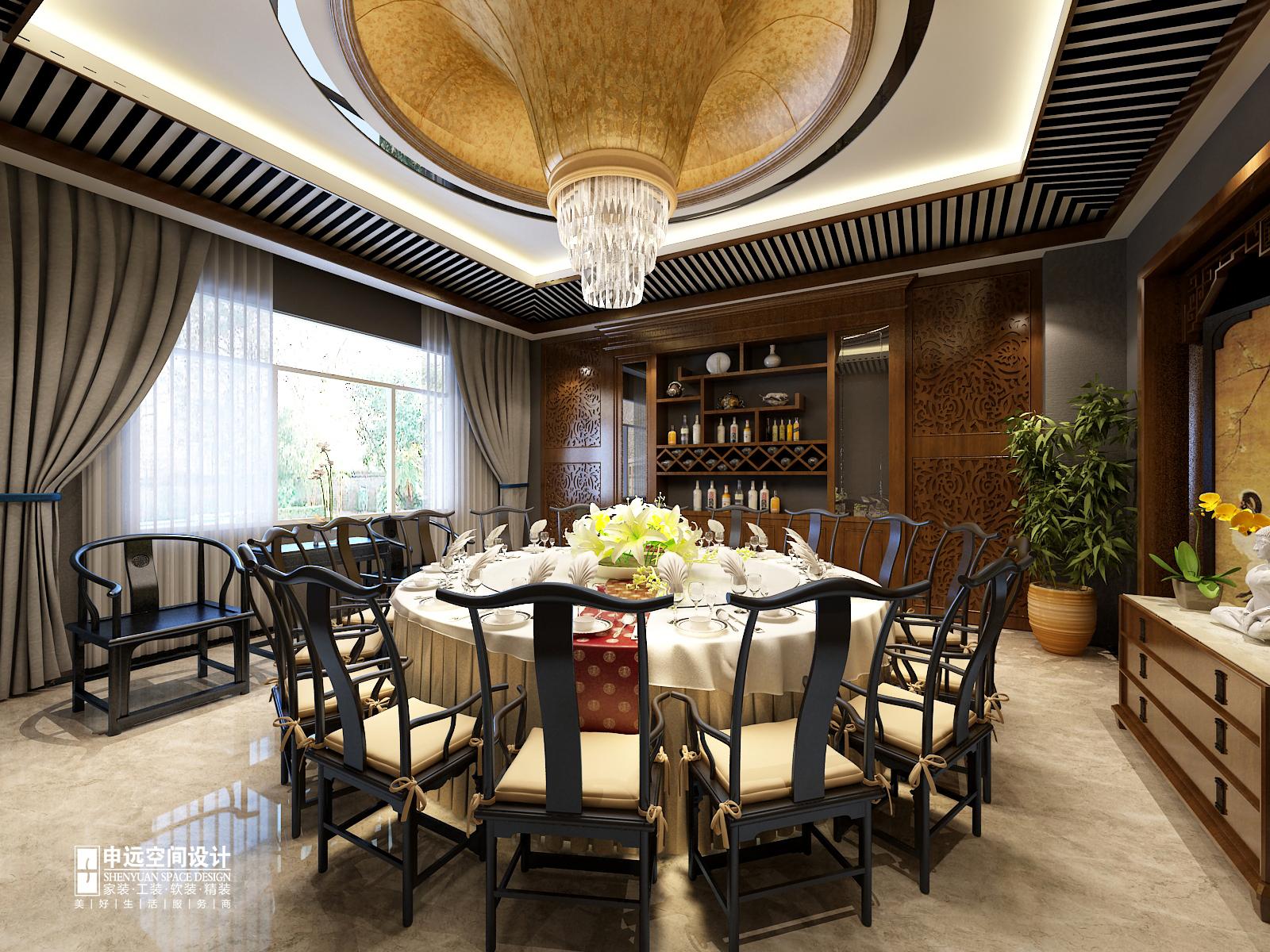 别墅 中式 古典别墅 申远 北京申远 餐厅图片来自申远空间设计北京分公司在北京申远-古典中式风格的分享