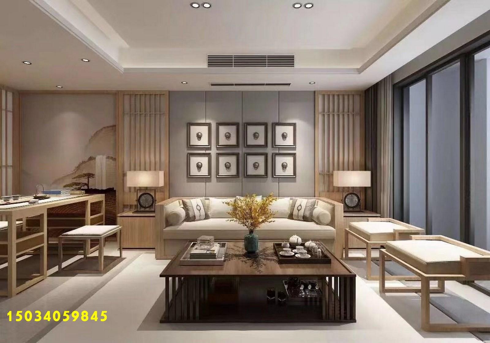 简约 三居图片来自山西今朝装饰在120平米新中式,清贵典雅的分享