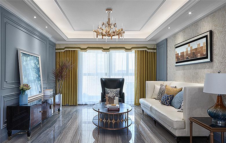 客厅图片来自家装大管家在106平现代美式3居 舒适休闲世界的分享