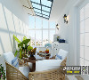 莱山二手房装修绿色家园简美风格装修效果图-烟台城市人家设计师梁润修