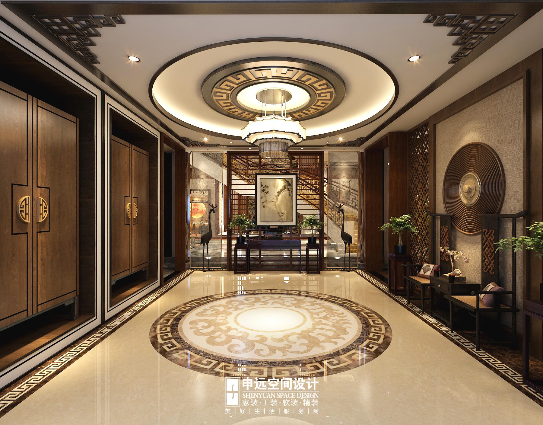 别墅 中式 古典别墅 申远 北京申远 玄关图片来自申远空间设计北京分公司在北京申远-古典中式风格的分享