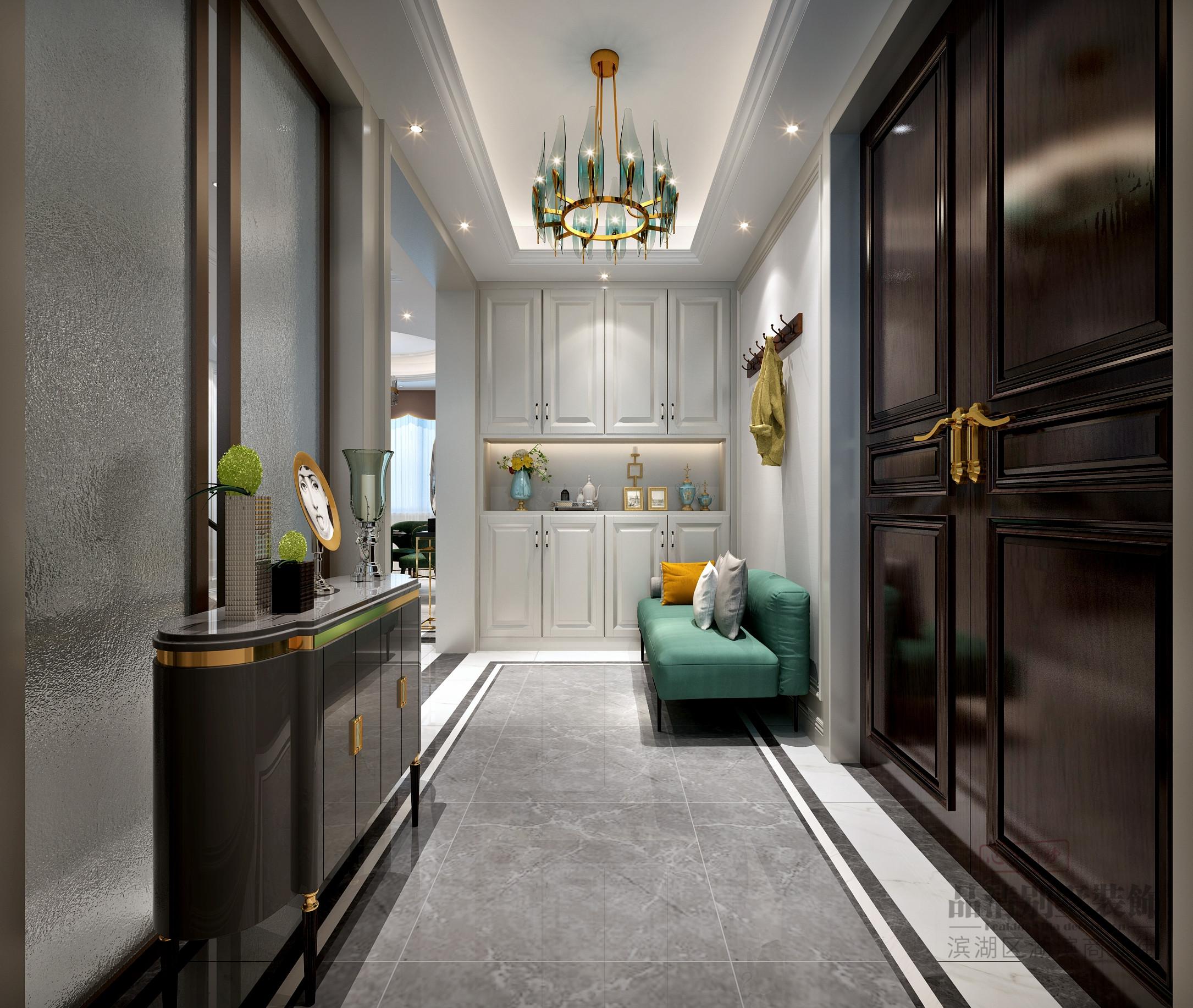 美式 别墅 客厅 卧室 厨房 餐厅图片来自别墅装修设计师在凤鸣山庄合院 450平 轻奢美式的分享