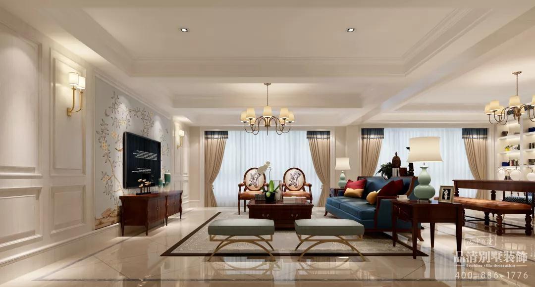 别墅 客厅 卧室 无锡别墅 别墅装修图片来自别墅装修设计师在金色江南集景花园280的分享