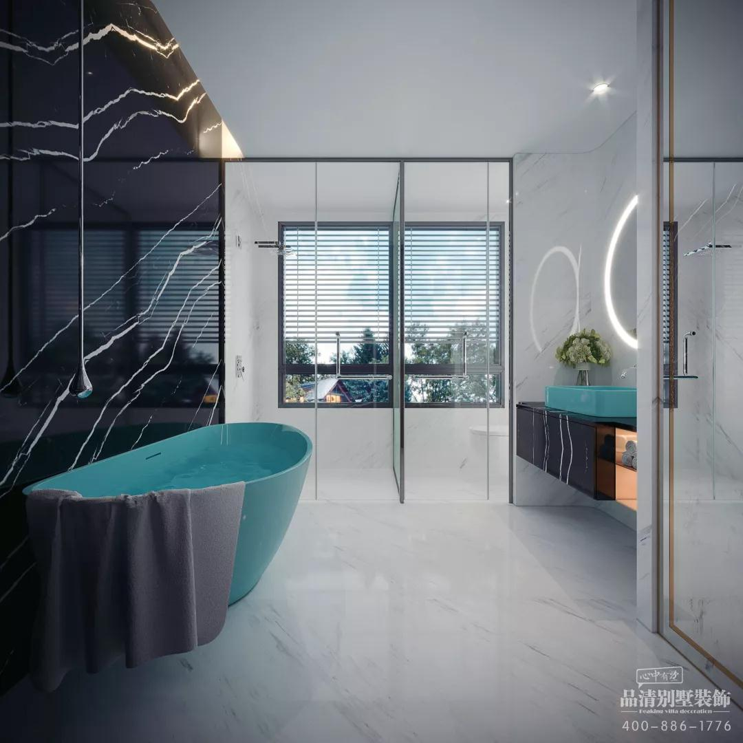 别墅 客厅 卧室 厨房 现代风格 简约图片来自别墅装修设计师在万科信成道286㎡现代的分享