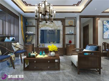 龙湖春江悦茗装修新中式风格设计
