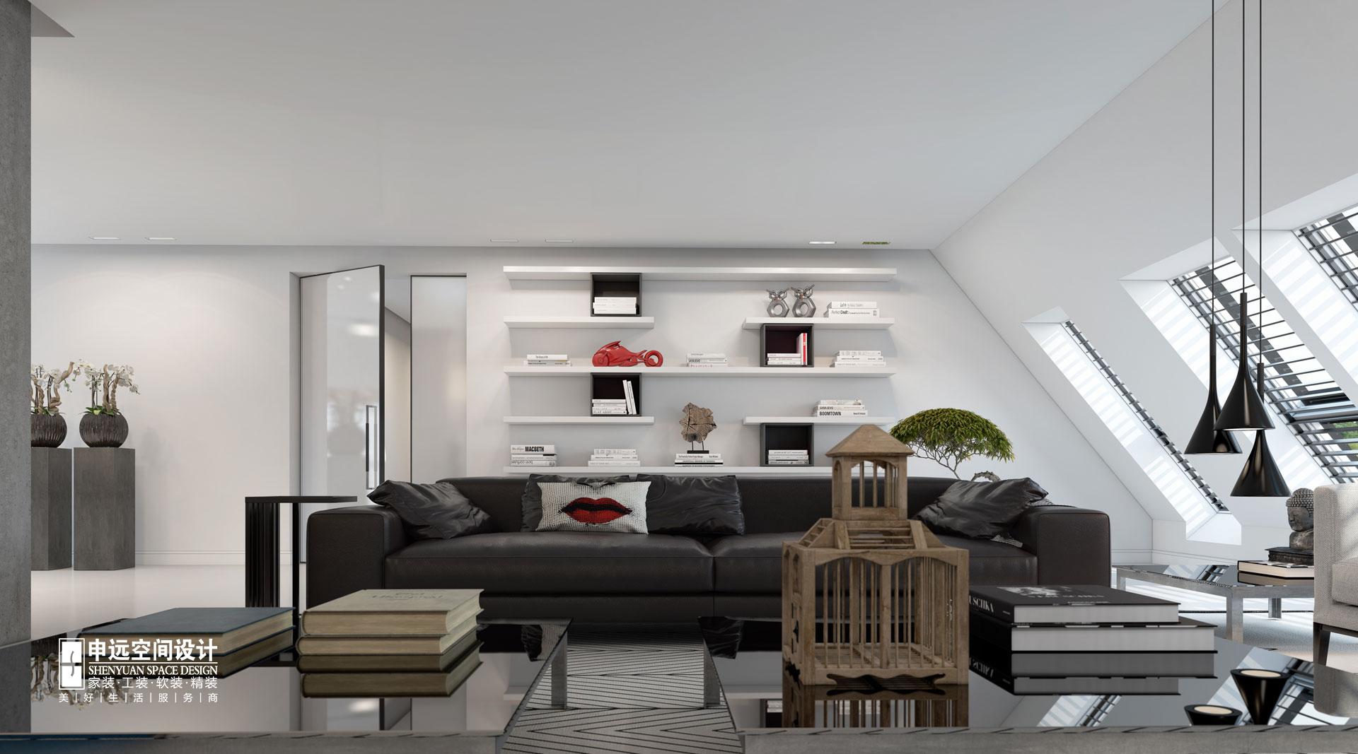 简约 别墅 北京申远 别墅装修 客厅图片来自申远空间设计北京分公司在北京申远空间设计-现代风格的分享