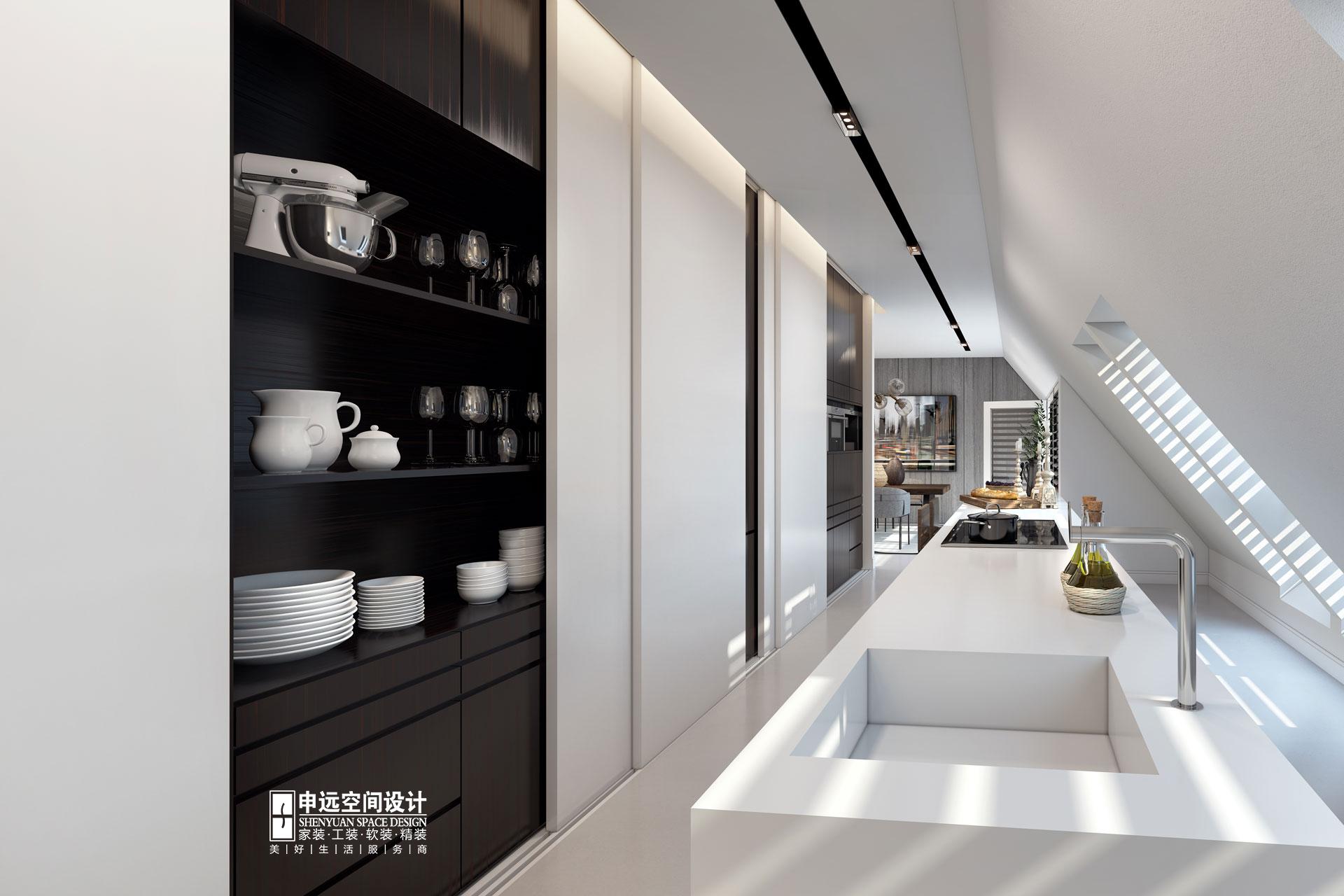 简约 别墅 北京申远 别墅装修 厨房图片来自申远空间设计北京分公司在北京申远空间设计-现代风格的分享