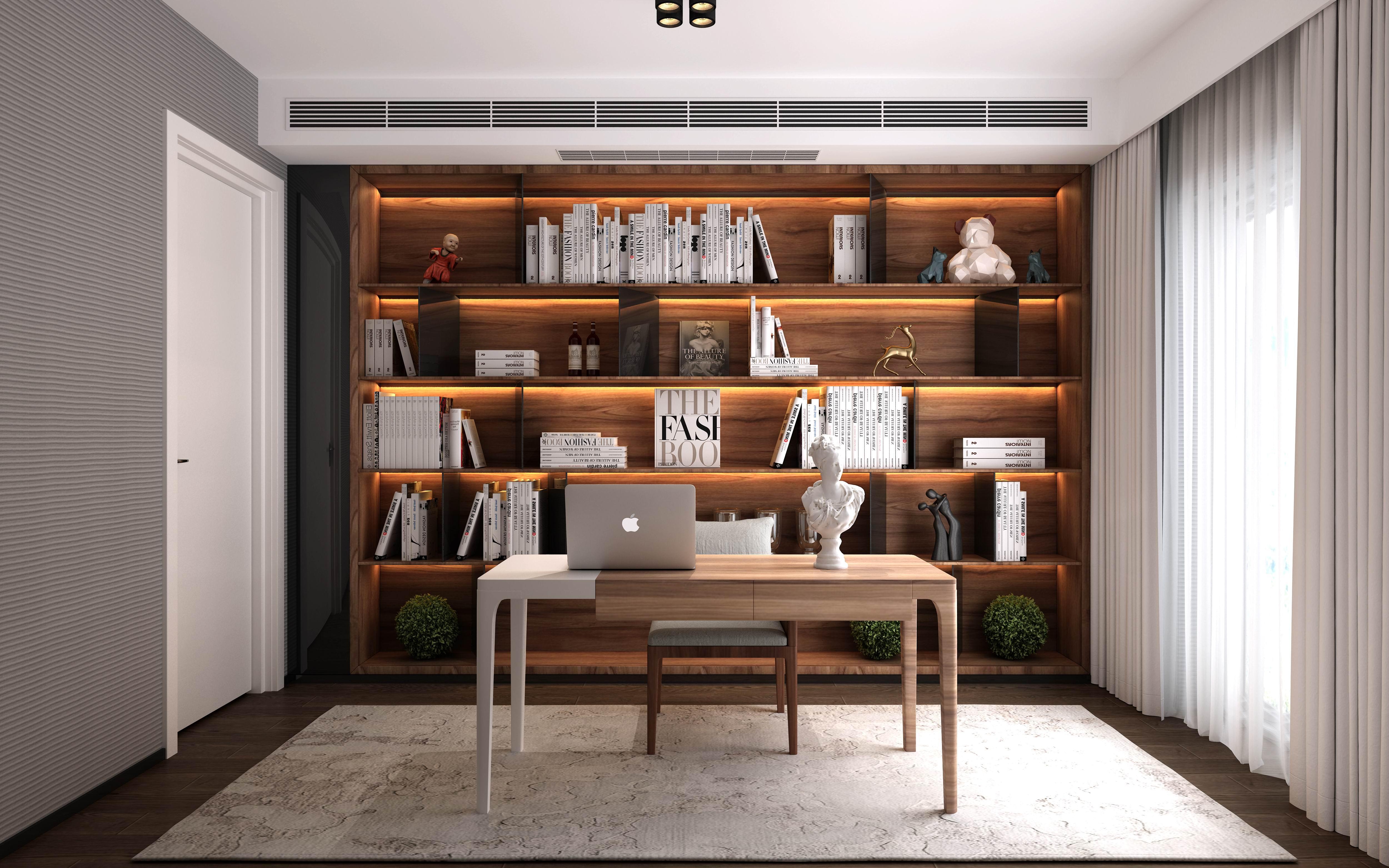 别墅 设计 装修 案例 现代风格 书房图片来自无锡别墅设计s在蠡湖院子下叠310㎡现代风格案例的分享