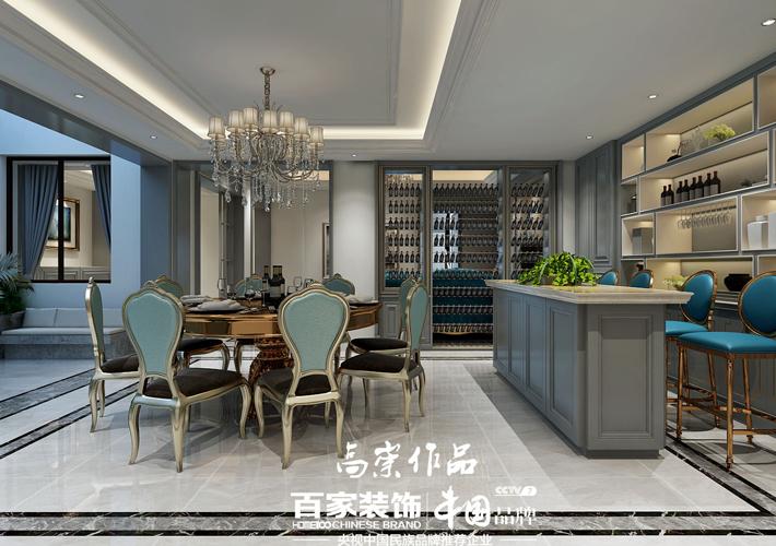 钻石墅 轻奢欧式 别墅装修 餐厅图片来自百家设计小刘在碧桂园钻石墅420平轻奢欧式风的分享