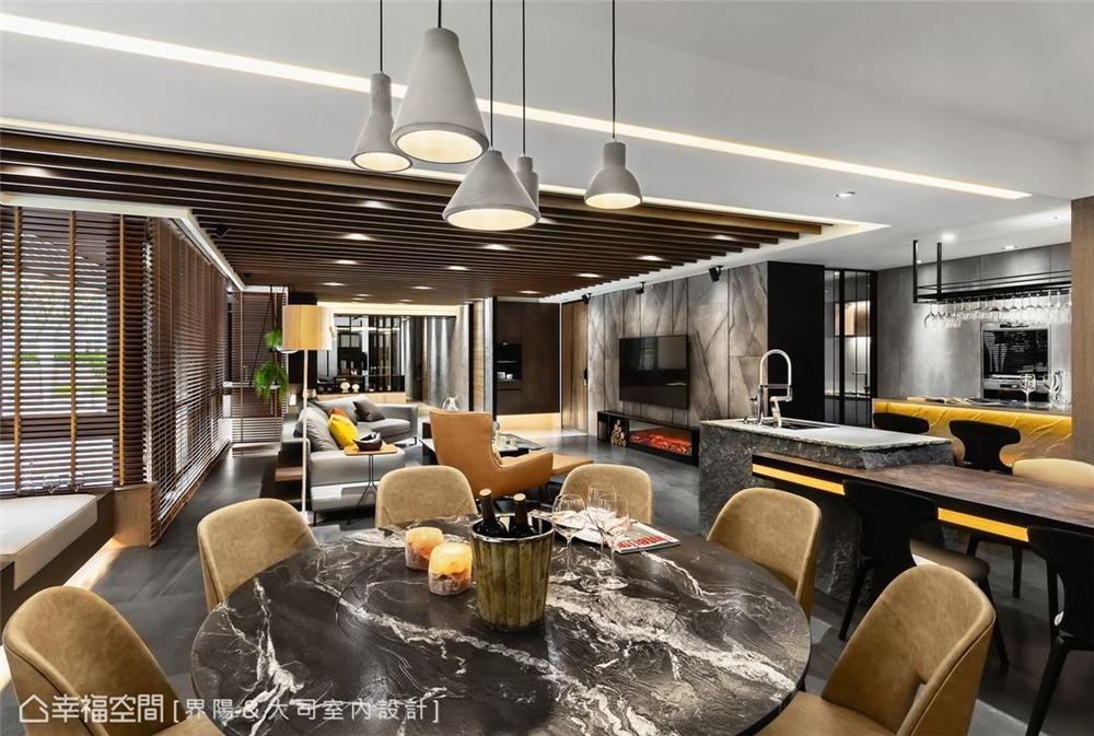 装修设计 装修完成 休闲多元 餐厅图片来自幸福空间在298平,客制化人文住宅魅力的分享