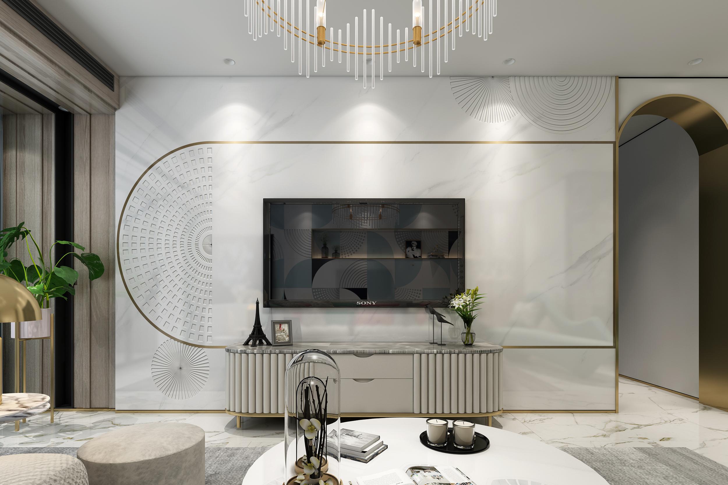 岩板定制 岩板大家居 石木源岩板 现代轻奢 全石背景墙图片来自石木源设计在石木源岩板定制整体客厅的分享