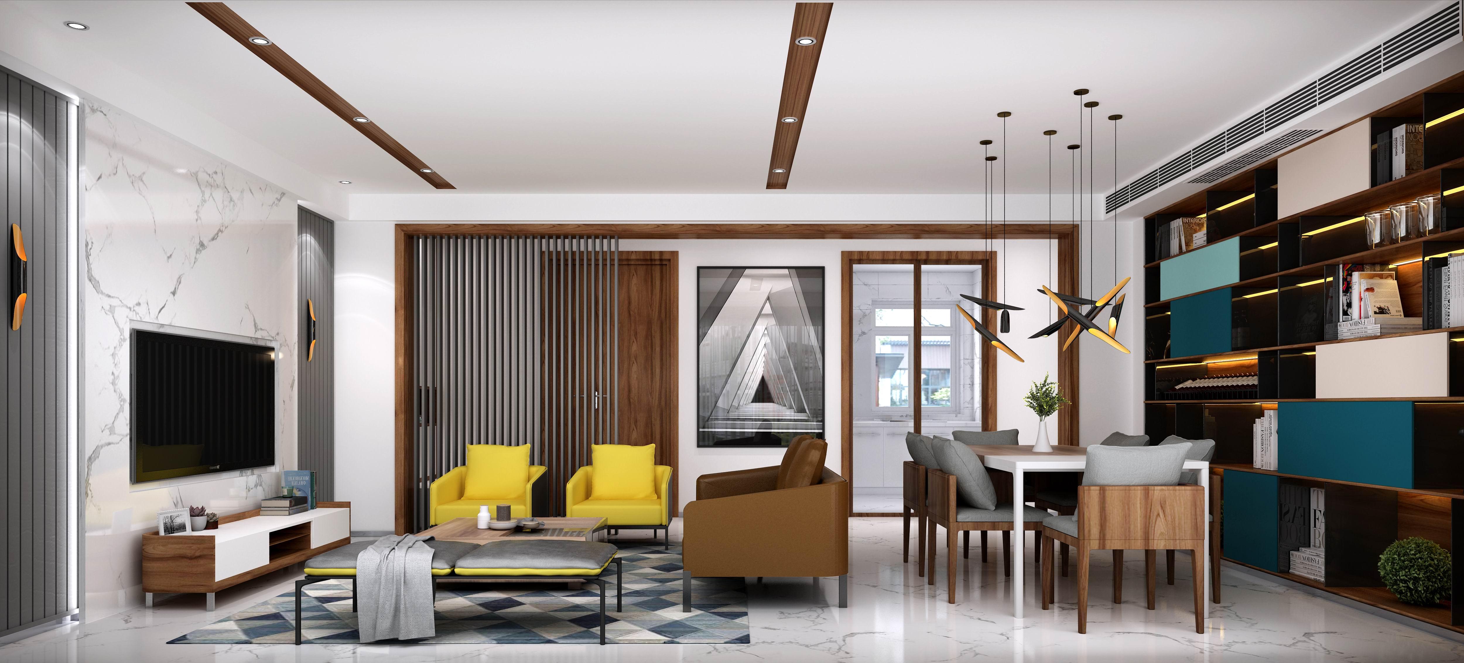 别墅 设计 装修 案例 现代风格 客餐厅图片来自无锡别墅设计s在蠡湖院子下叠310㎡现代风格案例的分享