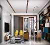 设计师将这种独到的配色哲学蔓延到当代都市生活空间中,旨在呈现温馨轻松的生活气息,制造生活的温暖和不凡气质。