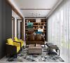 。不同色值蓝的运用,让空间色调在简灵中透出丰富度,为空间带来大气、灵动的气息。置入灰白色调节空间基调和视觉效果,使空间和谐统一,并带有一种优雅气质。