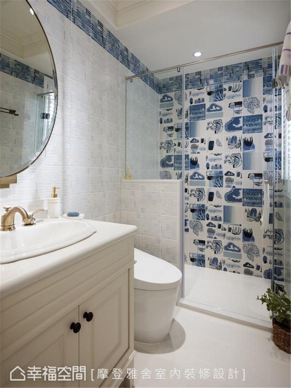 装修设计 装修完成 美式风格 公寓 卫生间图片来自幸福空间在126平,梦幻悠闲度假宅的分享