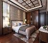 施丹吊顶中式风格卧室装修