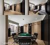 多功能空间 约五坪的空间不仅配有独立卫浴,还有藏三个机能,平常可以当和室、书房,隐藏于墙面的两张单人床放下后可当客房,而将收纳于墙面柜体麻将桌取出就变成了大人的纾压麻将间。