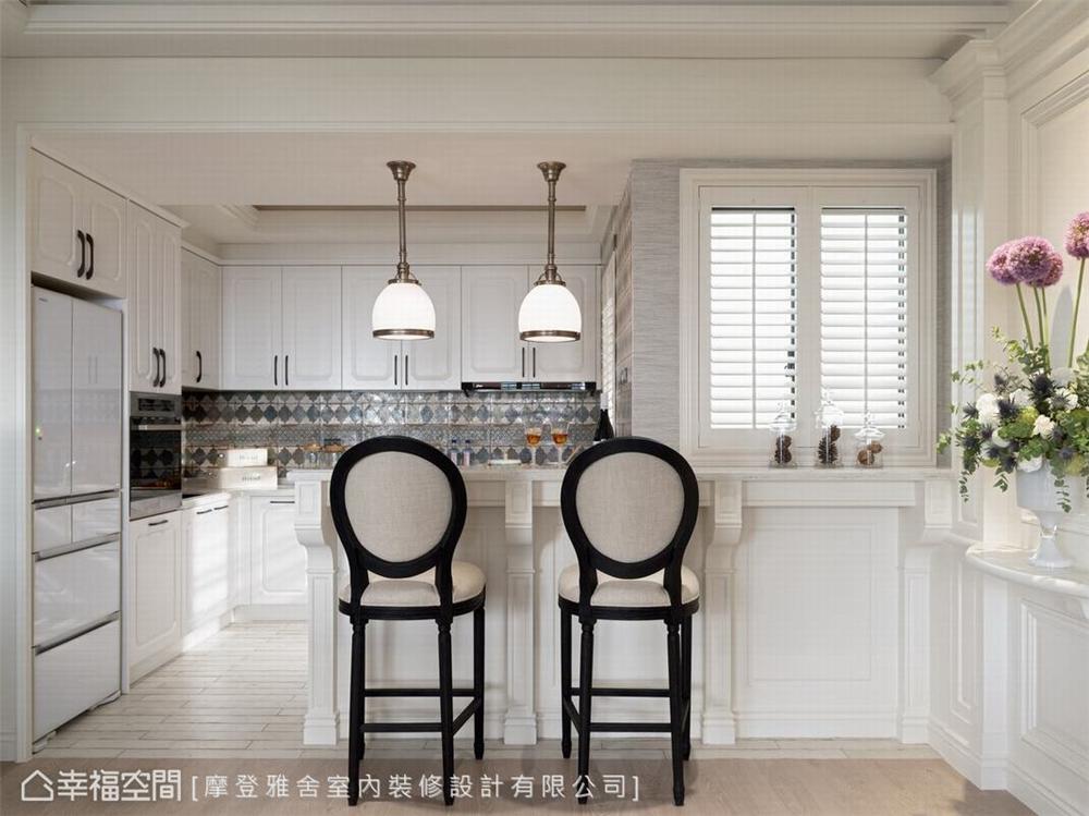 装修设计 装修完成 美式风格 公寓 厨房图片来自幸福空间在126平,梦幻悠闲度假宅的分享