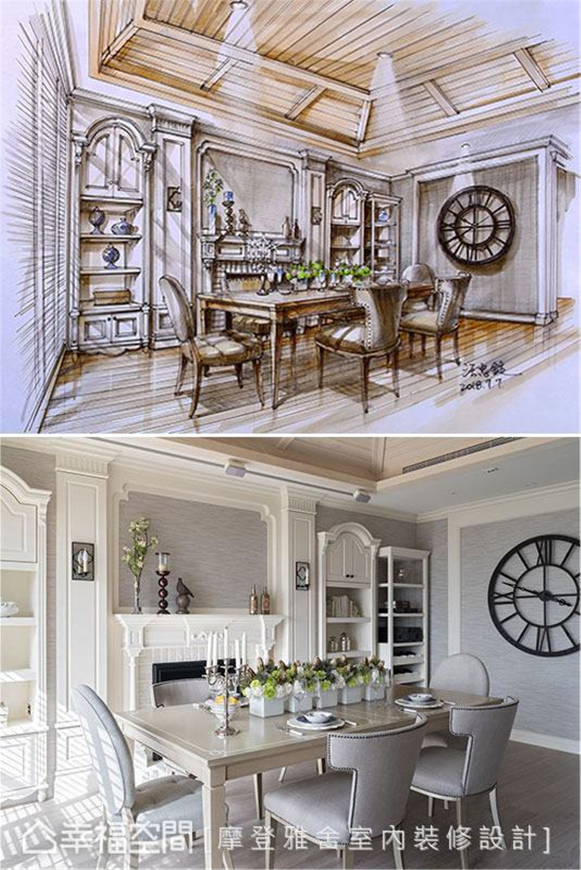 装修设计 装修完成 美式风格 公寓 餐厅图片来自幸福空间在126平,梦幻悠闲度假宅的分享