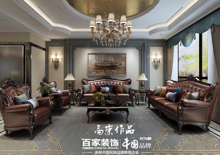 钻石墅 轻奢欧式 别墅装修 客厅图片来自百家设计小刘在碧桂园钻石墅420平轻奢欧式风的分享