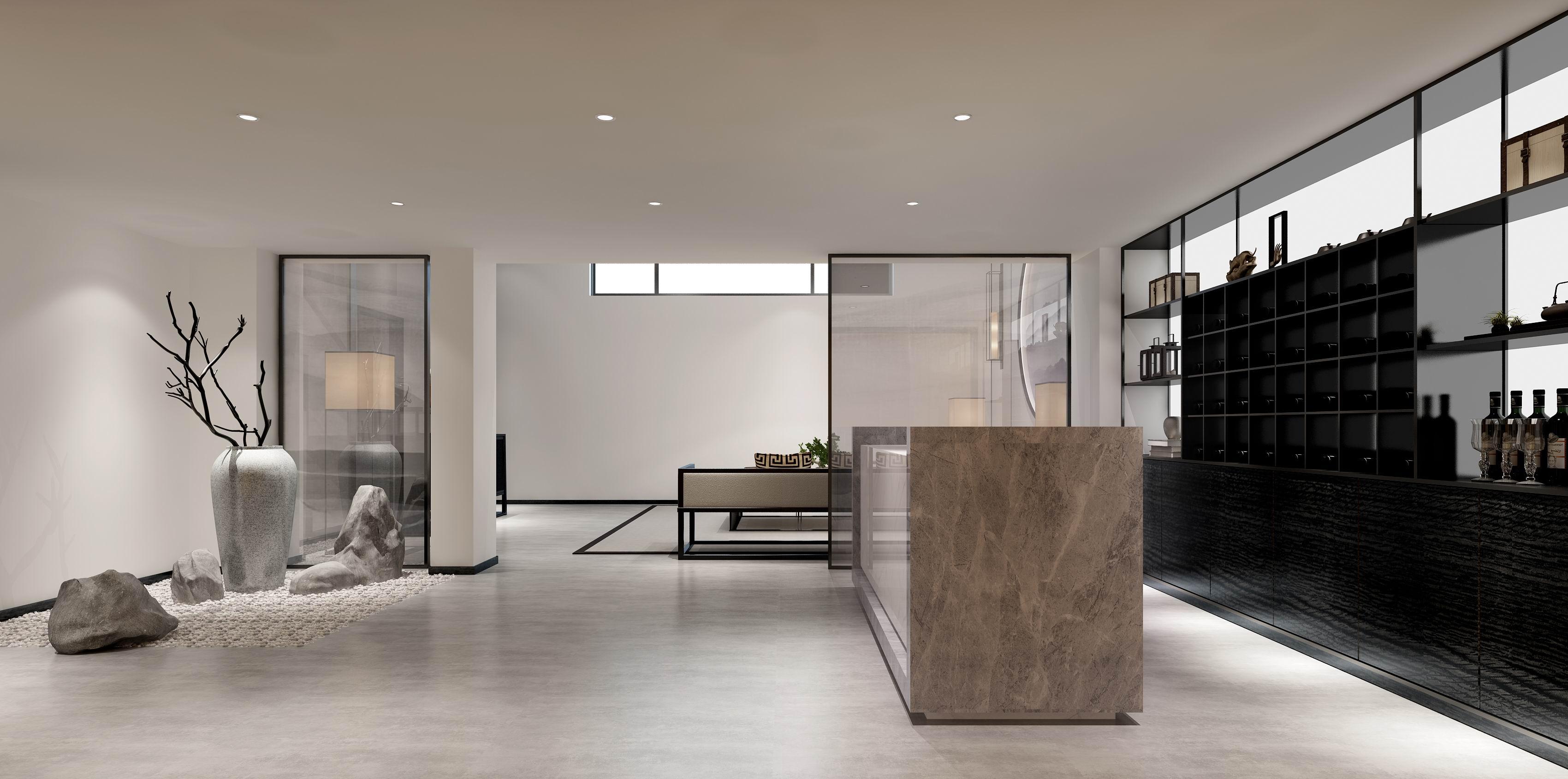 别墅 设计 装修 案例 新中式 酒窖图片来自无锡别墅设计s在水岸名府新中式450㎡装修案例的分享