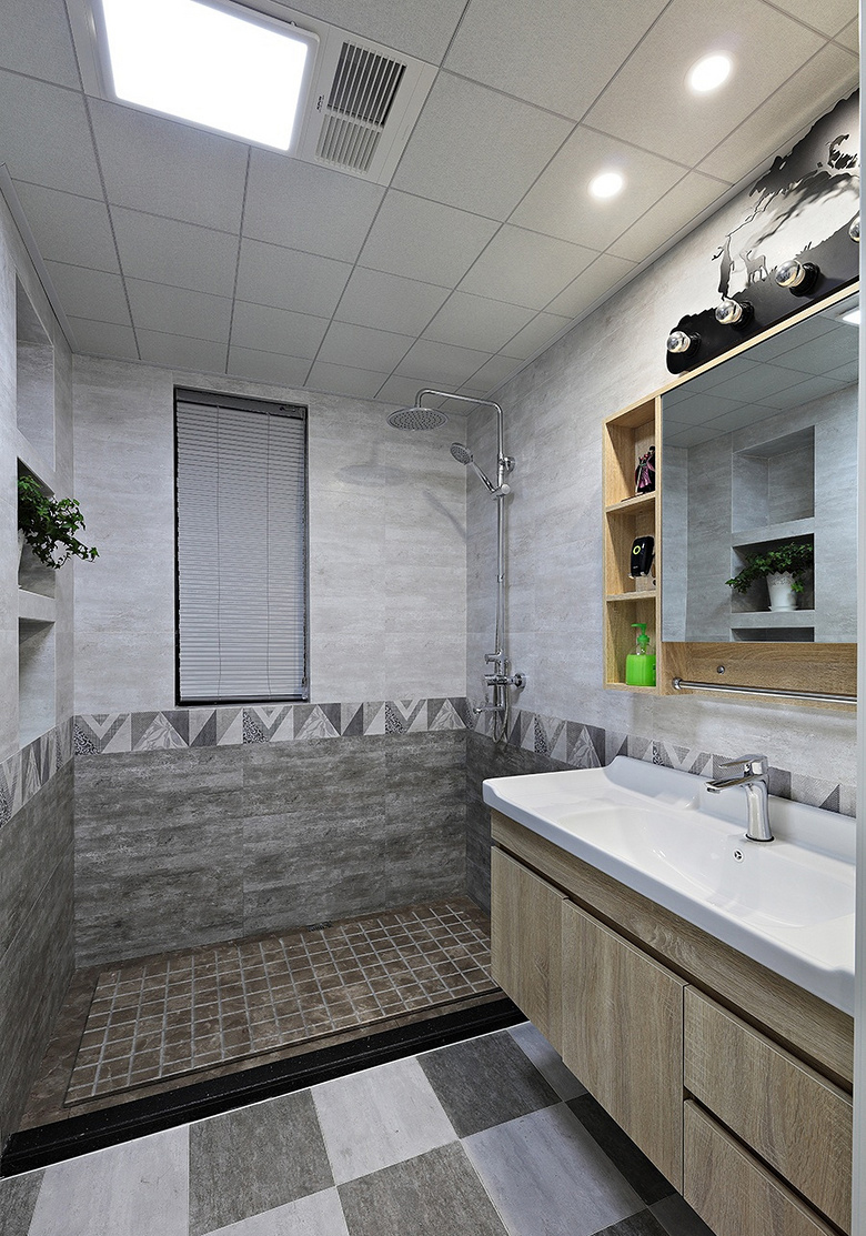 卫生间图片来自家装大管家在岁月安好 90平北欧清爽雅静两居的分享