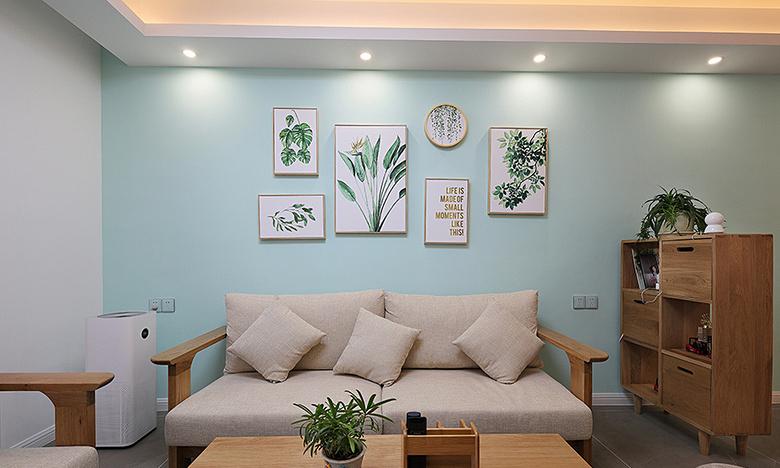 客厅图片来自家装大管家在岁月安好 90平北欧清爽雅静两居的分享