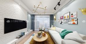 北欧 清新北欧 白领 旧房改造 小资 简约 混搭 清新 舒适 客厅图片来自二十四城装饰(集团)昆明公司在蓝光·林肯公园  北欧风的分享