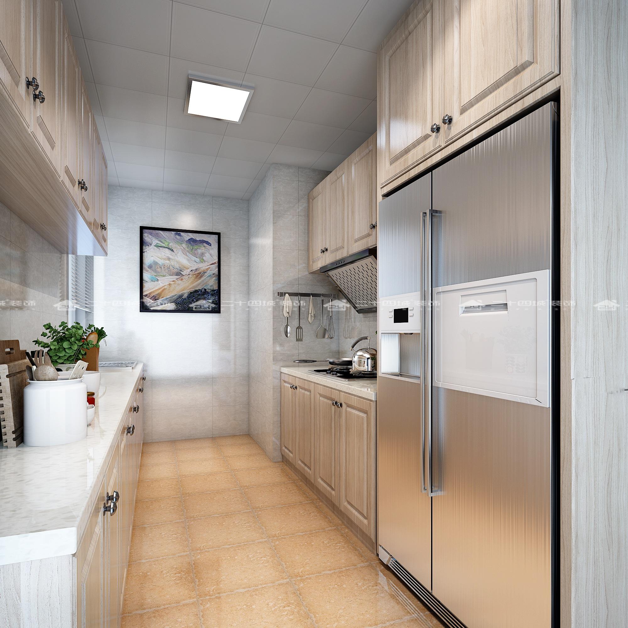 厨房图片来自二十四城装饰(集团)昆明公司在翠逸园  小美式的分享