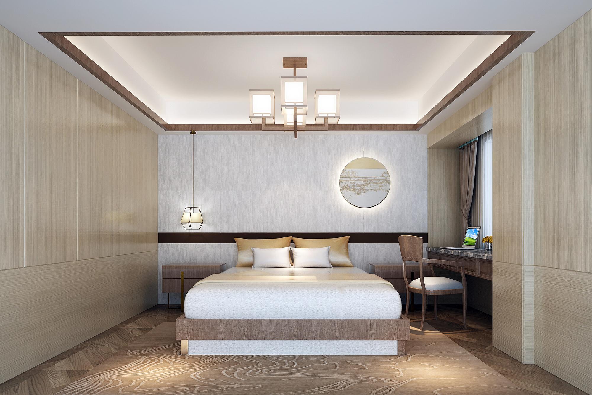 别墅 设计 装修 案例 新中式风格 卧室图片来自无锡别墅设计s在吉宝澜岸名邸新中式案例的分享