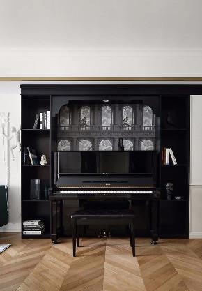 混搭 轻奢 现代 元素 全案设计 书房图片来自鹏友百年装饰在温柔雅奢INS风的分享