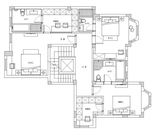 别墅 设计 装修 案例 新中式风格 平面图图片来自无锡别墅设计s在吉宝澜岸名邸新中式案例的分享