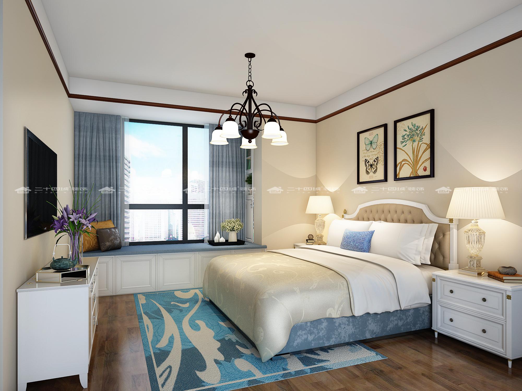 卧室图片来自二十四城装饰(集团)昆明公司在翠逸园  小美式的分享