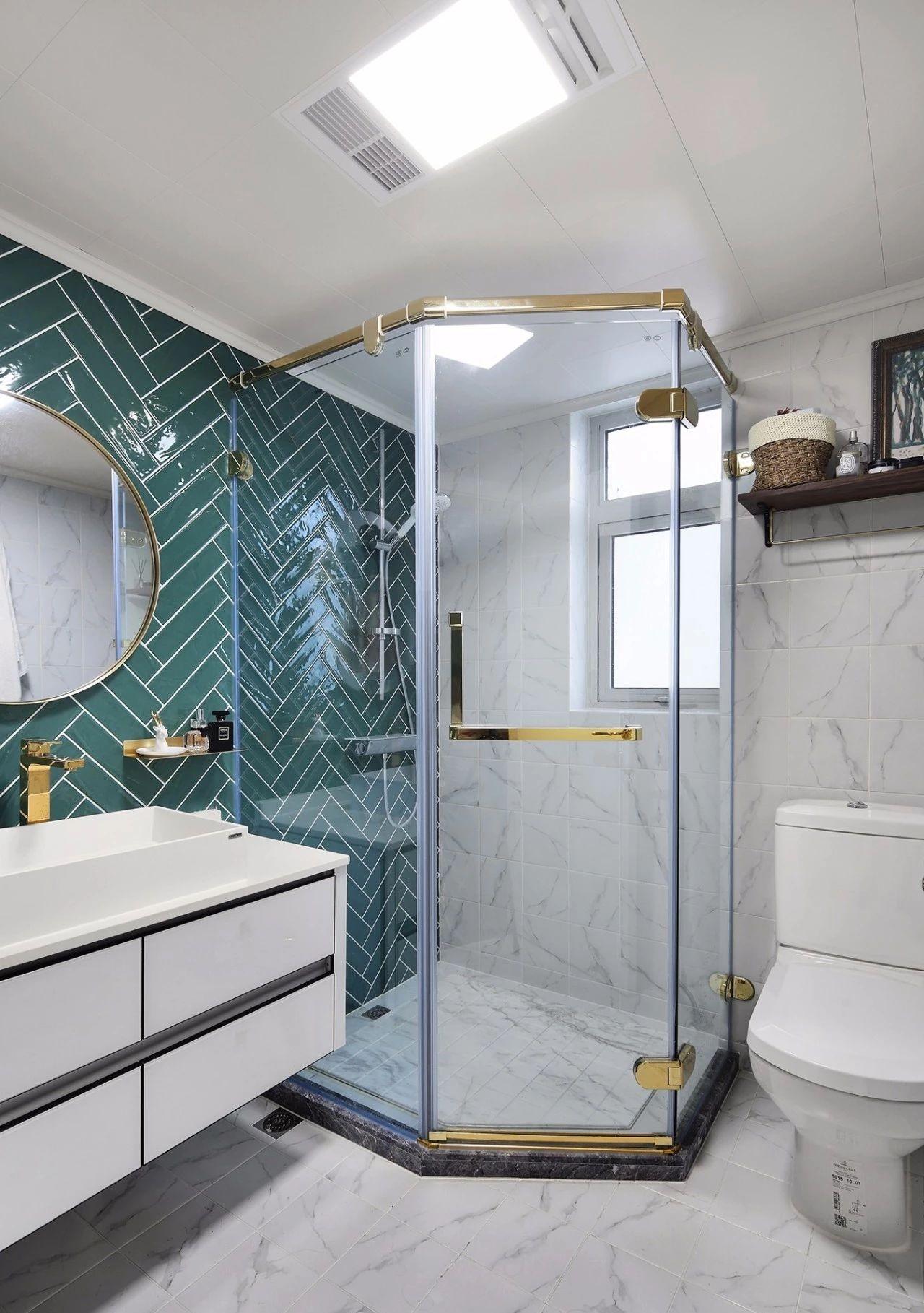 混搭 轻奢 现代 元素 全案设计 卫生间图片来自鹏友百年装饰在温柔雅奢INS风的分享